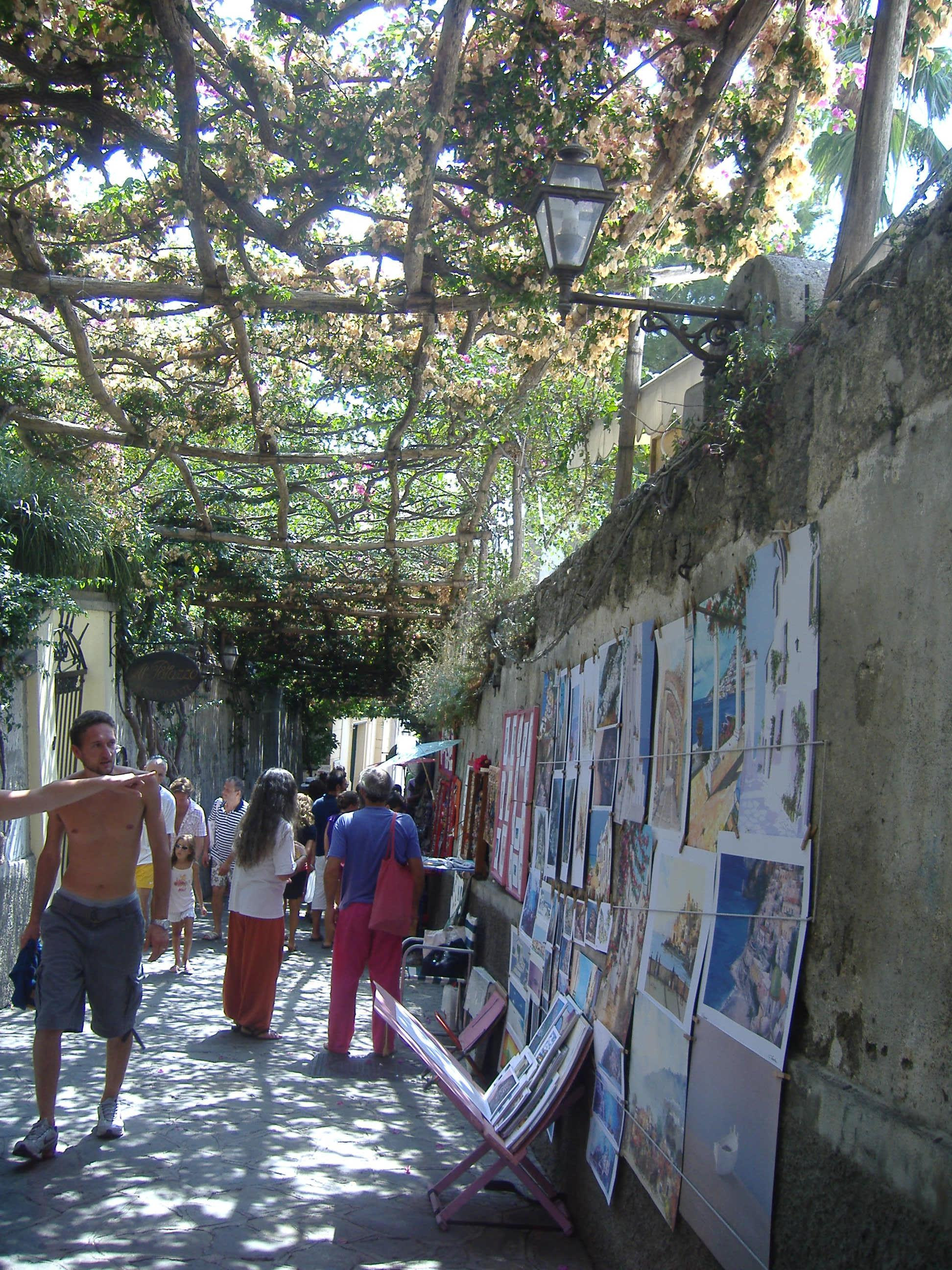 how to get from rome to positano by bus