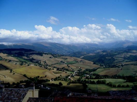 Sibillini Mountains taken from Camerino