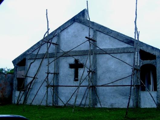 New Church. Scaffolding, island style