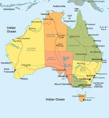map of aust