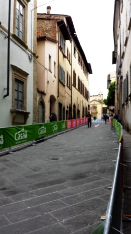 Setting up for Giro d'Italia