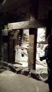 Inside the underground caves