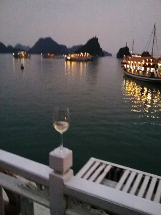 Ha Long Bay at night
