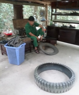 Now made from rubber tyres
