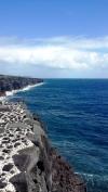 Where the lava meets the sea